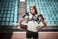 Φορέας κοριτσιών ράγκμπι Στοκ Φωτογραφία