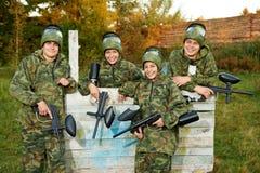 φορέας κοριτσιών paintball Στοκ εικόνα με δικαίωμα ελεύθερης χρήσης