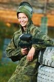 φορέας κοριτσιών paintball Στοκ Φωτογραφίες