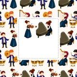 φορέας ορχηστρών μουσικής καρτών διανυσματική απεικόνιση