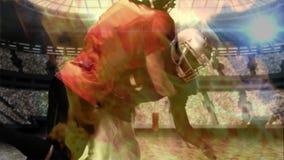 Φορέας ράγκμπι που παίρνει αντιμετωπισμένος κάτω απόθεμα βίντεο