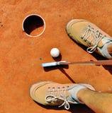 Φορέας στη μίνι τρύπα γκολφ στοκ εικόνες