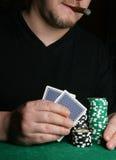 φορέας χεριών καρτών στοκ εικόνα με δικαίωμα ελεύθερης χρήσης