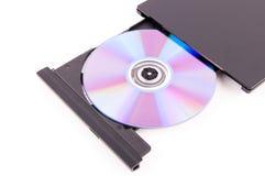 Φορέας DVD ανοικτός Στοκ εικόνα με δικαίωμα ελεύθερης χρήσης