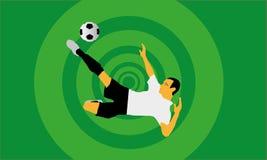 Φορέας Footbal που πυροβολεί μια σφαίρα Στοκ Εικόνες
