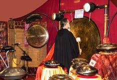 Φορέας Gong στο φεστιβάλ της Ανατολής στη Ρώμη Ιταλία Στοκ Εικόνα