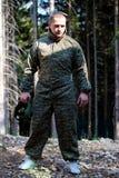 Φορέας Paintball που προετοιμάζεται για τη μάχη Στοκ Εικόνα