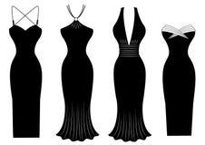 Φορέματα γυναικών το ειδικό συμβαλλόμενο μέρος που απομονώνεται για στο λευκό   Στοκ εικόνες με δικαίωμα ελεύθερης χρήσης