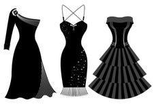 Φορέματα συμβαλλόμενων μερών μόδας για τη γυναίκα Στοκ φωτογραφία με δικαίωμα ελεύθερης χρήσης