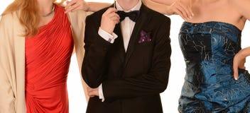 Φορέματα Prom και μαύρο επίσημο κοστούμι στοκ φωτογραφίες με δικαίωμα ελεύθερης χρήσης