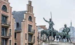 Φορέστε Δον Κιχώτης και Sancho στις Βρυξέλλες Στοκ φωτογραφία με δικαίωμα ελεύθερης χρήσης