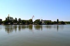 Φορέστε τον ποταμό, Ροστόφ--φορά Ρωσία Στοκ Εικόνες