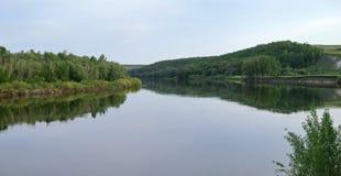 Φορέστε τον ποταμό στην κεντρική Ρωσία Στοκ εικόνα με δικαίωμα ελεύθερης χρήσης