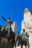 φορέστε το άγαλμα της Ισπανίας sancho Δον Κιχώτης panza της Μαδρίτης Στοκ εικόνα με δικαίωμα ελεύθερης χρήσης