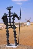 Φορέστε το άγαλμα Quijote Στοκ εικόνα με δικαίωμα ελεύθερης χρήσης