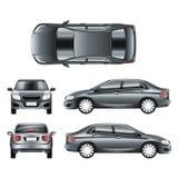 Φορείο αυτοκινήτων χρώματος στο διαφορετικό διανυσματικό πρότυπο σημείου των απόψεων απεικόνιση αποθεμάτων