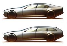 Φορείο και βαγόνι εμπορευμάτων σώματος αυτοκινήτων Στοκ Φωτογραφίες