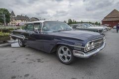 1960 φορείο Hardtop 4-πορτών Chevrolet Impala Στοκ φωτογραφίες με δικαίωμα ελεύθερης χρήσης