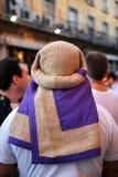Φορείς, ιερή εβδομάδα στη Σεβίλη, Ανδαλουσία, Ισπανία στοκ εικόνες