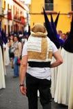 Φορείς, ιερή εβδομάδα στη Σεβίλη, Ανδαλουσία, Ισπανία στοκ εικόνα με δικαίωμα ελεύθερης χρήσης