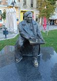 Φορείς Bora Kostic σκακιού μνημείων στοκ φωτογραφίες με δικαίωμα ελεύθερης χρήσης