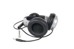 Φορεμένα ακουστικά στούντιο Στοκ φωτογραφίες με δικαίωμα ελεύθερης χρήσης