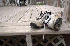 Φορεμένα παπούτσια κήπων Στοκ Εικόνα