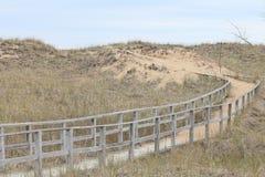 Φορεμένη πορεία μέσω της άμμου στοκ εικόνα