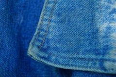 Φορεμένο ύφασμα βαμβακιού υφάσματος σύσταση με ένα περιλαίμιο στοκ εικόνες