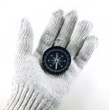 φορημένη γάντια πυξίδα εκμ&epsilo Στοκ Εικόνες