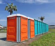 Φορητές εγκαταστάσεις τουαλετών Στοκ φωτογραφία με δικαίωμα ελεύθερης χρήσης