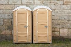 φορητές τουαλέτες Στοκ Φωτογραφίες
