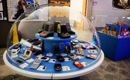 Φορητές Video-Game κονσόλες, αναδρομική ψυχαγωγία, εκλεκτής ποιότητας αντικείμενα στοκ φωτογραφία