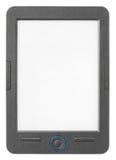 Φορητός αναγνώστης eBook που απομονώνεται στο λευκό Στοκ Εικόνα