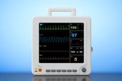 Φορητός καρδιακός εξοπλισμός ελέγχου υγειονομικής περίθαλψης τρισδιάστατη απόδοση ελεύθερη απεικόνιση δικαιώματος