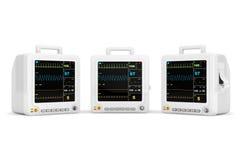 Φορητός καρδιακός εξοπλισμός ελέγχου υγειονομικής περίθαλψης διανυσματική απεικόνιση