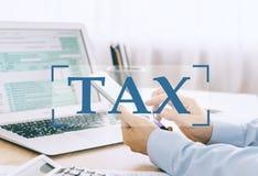 Φορολογική έννοια στοκ φωτογραφία με δικαίωμα ελεύθερης χρήσης