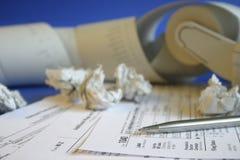 φορολογική αναταραχή Στοκ Φωτογραφίες