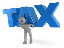 φορολογική λέξη ατόμων ανύψωσης διανυσματική απεικόνιση