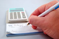 Φορολογικός χρόνος στοκ εικόνες
