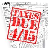 φορολογικός χρόνος διανυσματική απεικόνιση