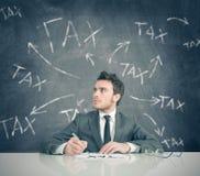 Φορολογικό πρόβλημα στοκ φωτογραφίες