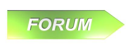 ΦΟΡΟΥΜ στο πράσινο βέλος - τρισδιάστατη απόδοση απεικόνιση αποθεμάτων