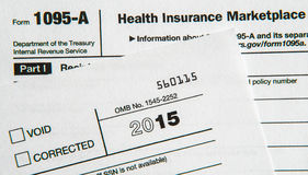Φορολογικές μορφές για τον προσιτό νόμο υγειονομικής περίθαλψης Στοκ Εικόνες