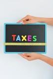 Φορολογική έννοια μέτρου σε μια επιχείρηση, μια επιχείρηση ή μια οικονομία Στοκ εικόνα με δικαίωμα ελεύθερης χρήσης