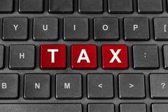 Φορολογική λέξη στο πληκτρολόγιο Στοκ φωτογραφίες με δικαίωμα ελεύθερης χρήσης