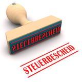 Φορολογική απαίτηση γραμματοσήμων διανυσματική απεικόνιση