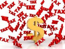 Φορολογική βροχή από τα δολάρια απεικόνιση αποθεμάτων