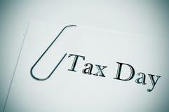 Φορολογική ημέρα Στοκ Φωτογραφίες