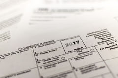 Φορολογική μορφή IRS: 1099-ρ Στοκ φωτογραφία με δικαίωμα ελεύθερης χρήσης